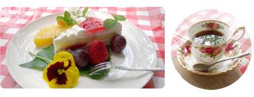 ストロベリーケーキセット